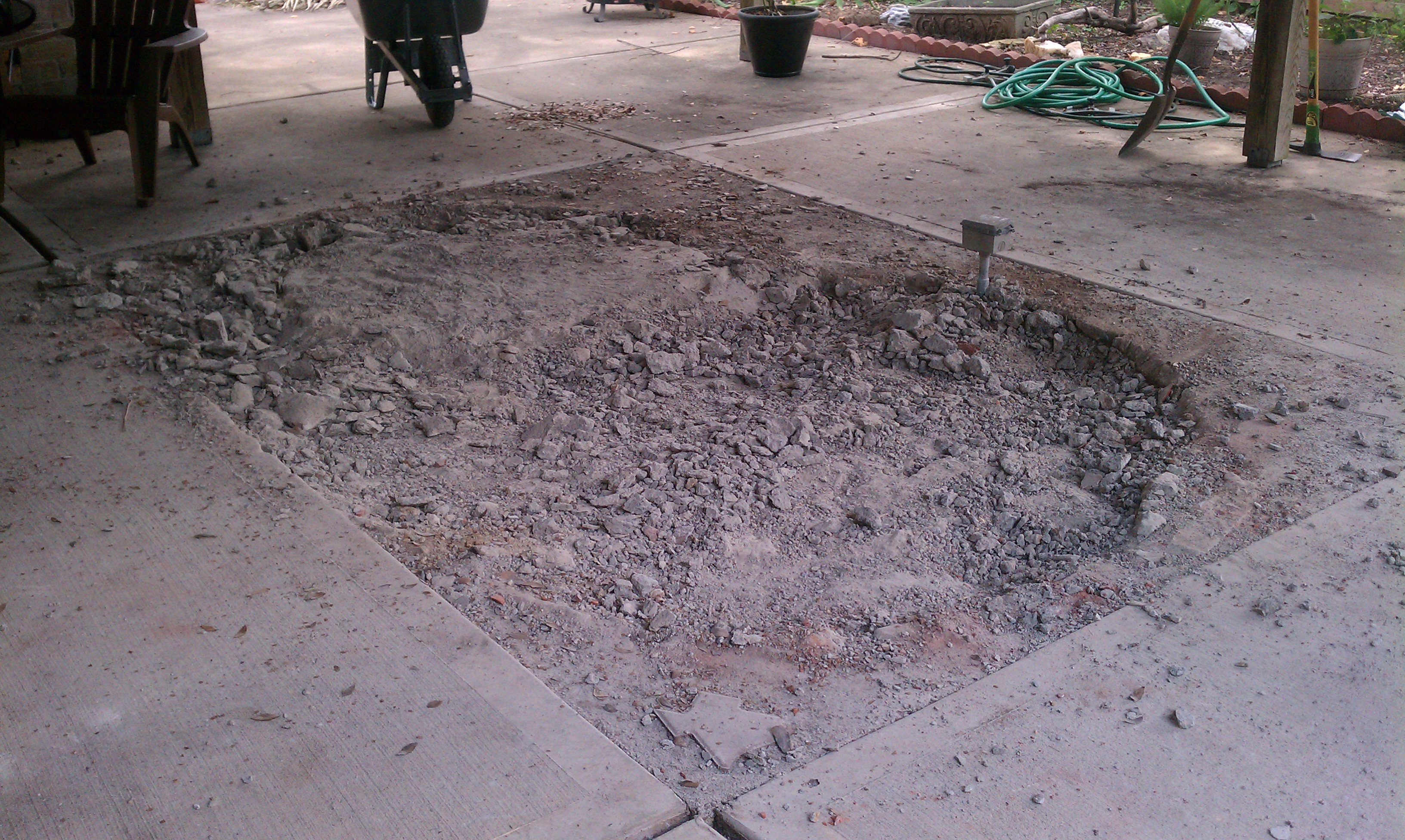 backyard project phase 4 pouring new cement u2013 sajan abraham