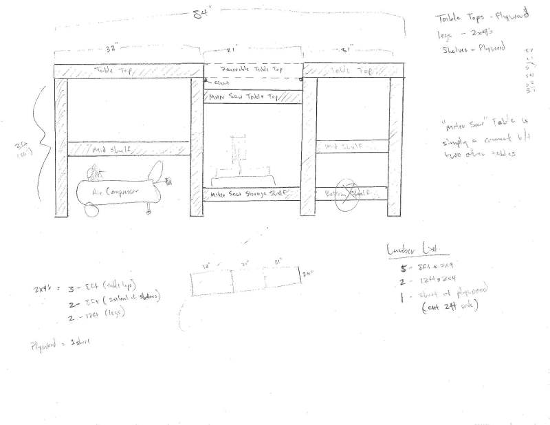 workshop tool bench plans
