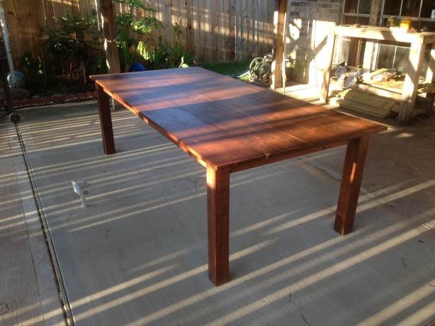 wood outdoor dining table plans