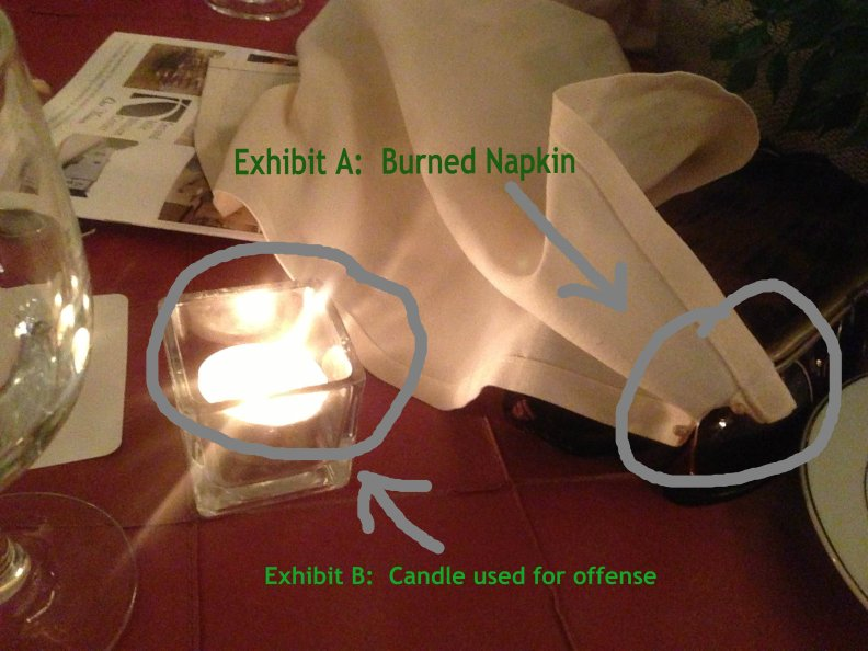 Burned Napkin