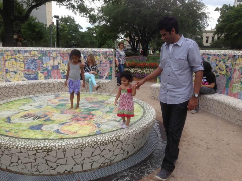 fountain walk