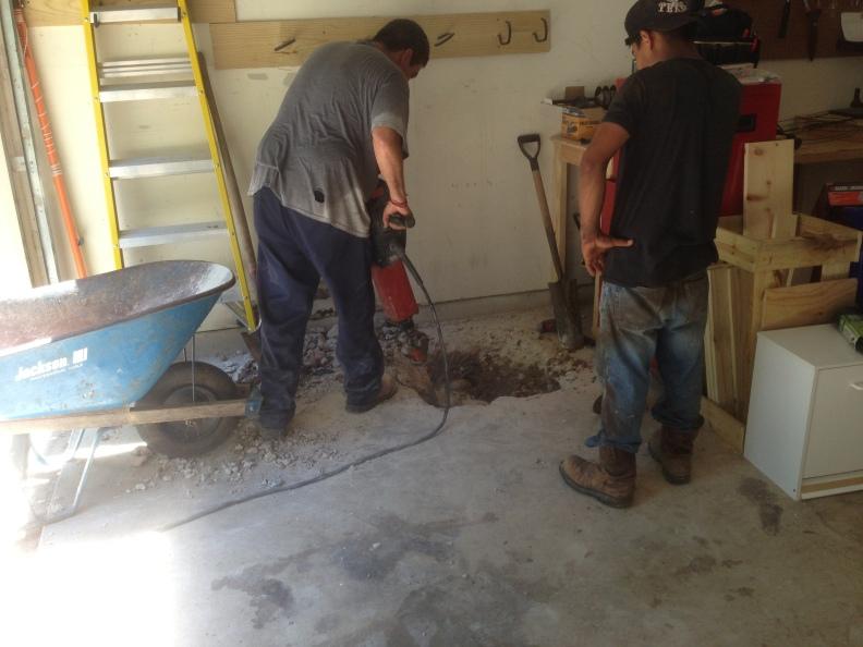 garage hole