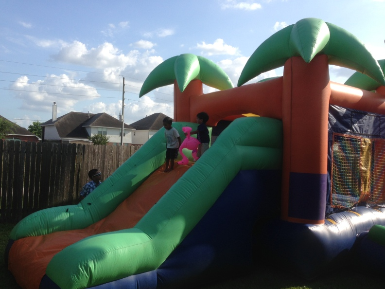 boys bounce house