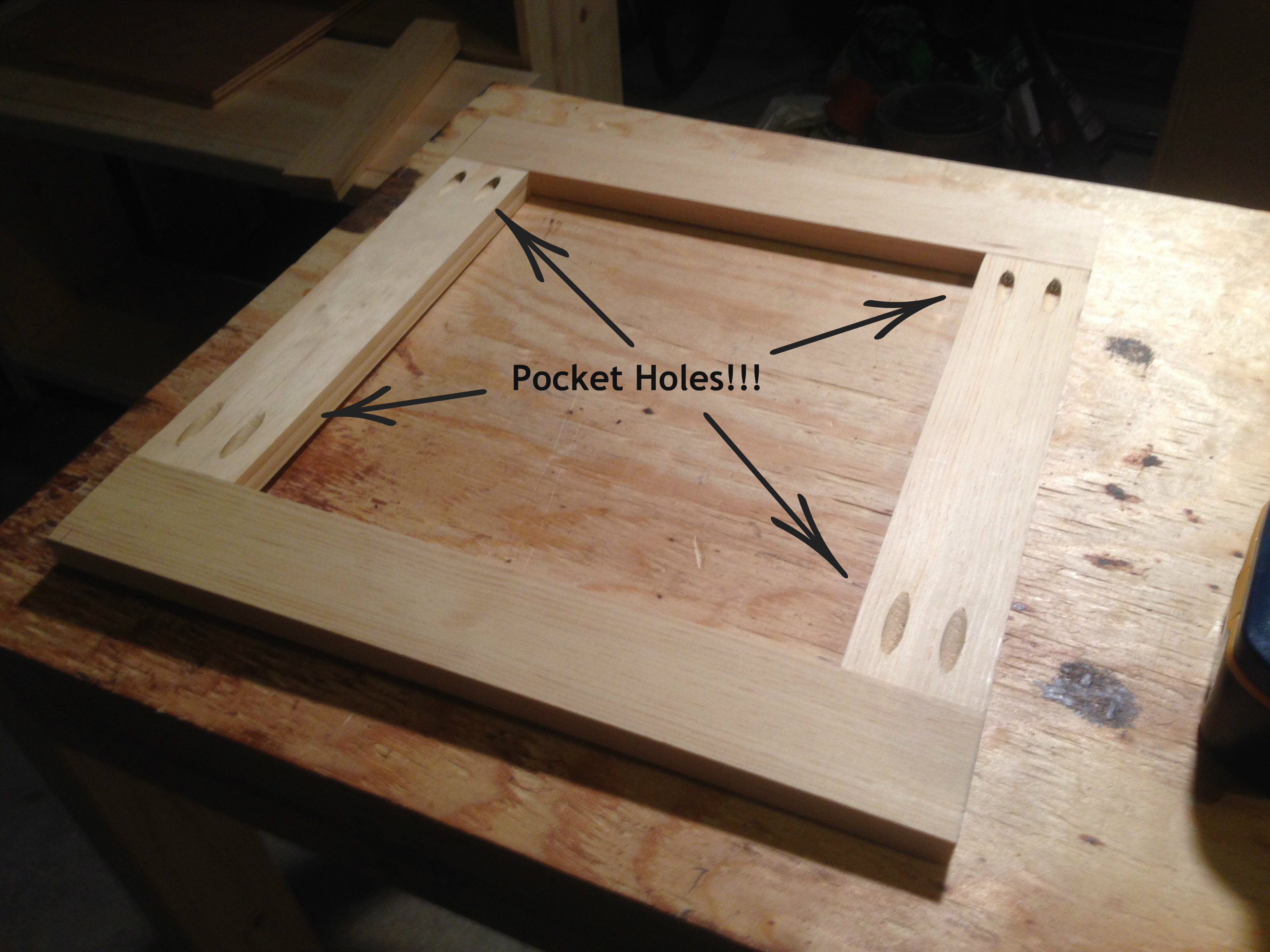 building cabinets using pocket screws