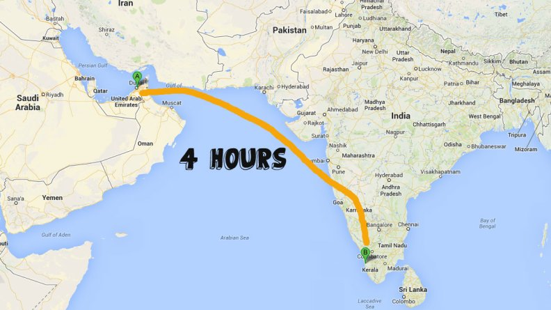 Dubai to Cochin