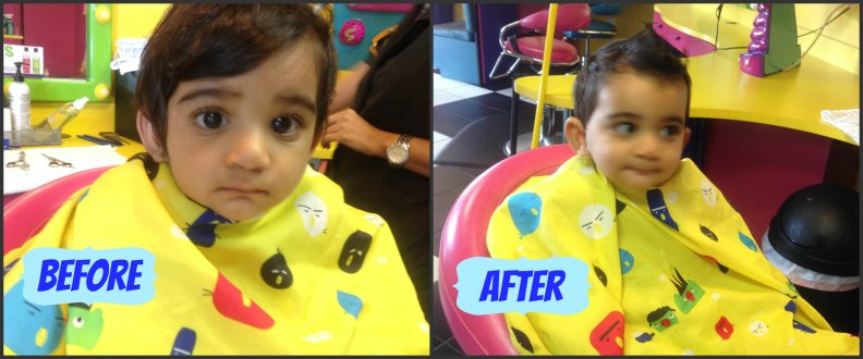 Ezzy hair before after