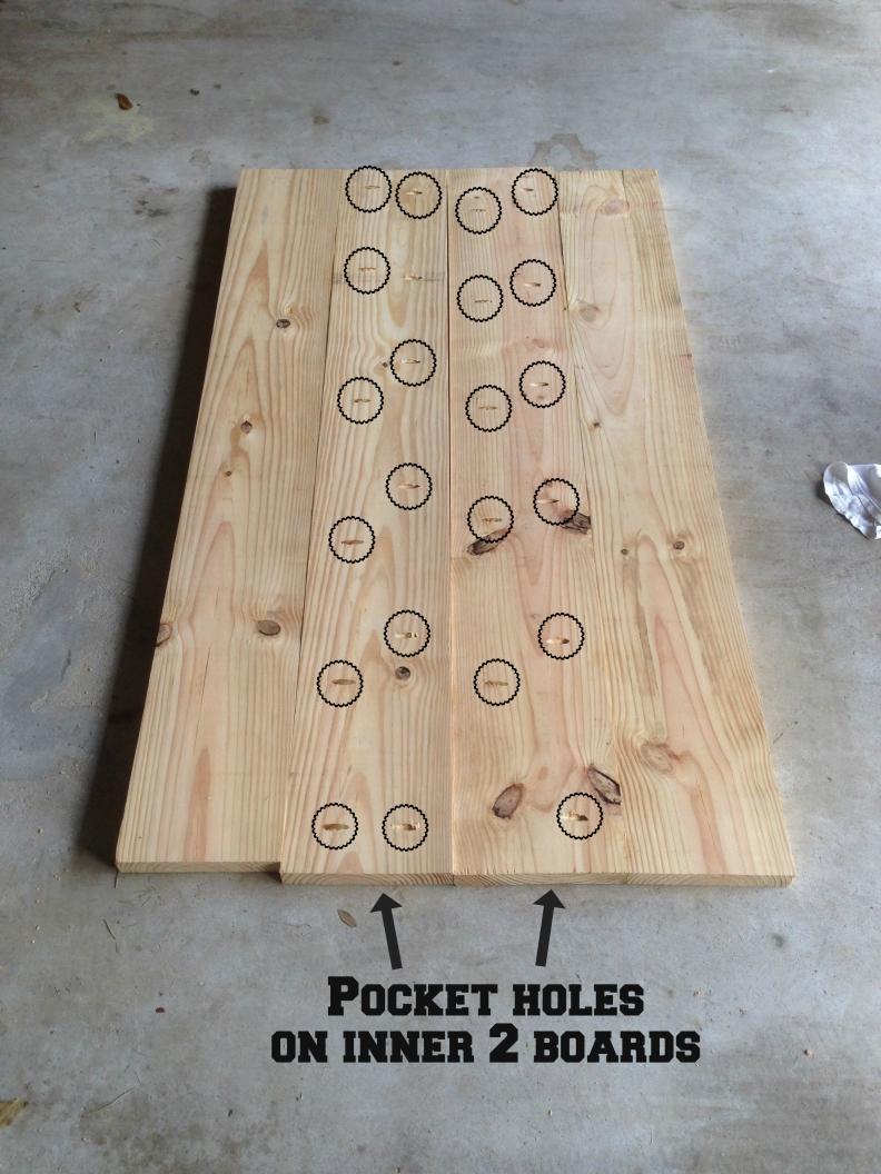 pocket hole locations